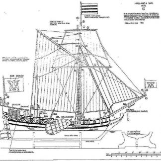 Boeier Yacht Hollanda 1670 ship model plans