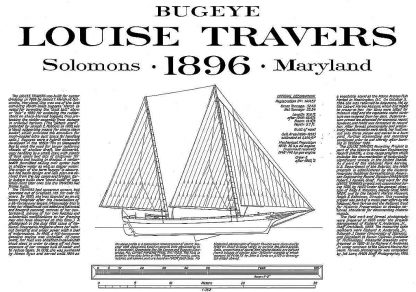 Bugeye Louise Travers ship model plans