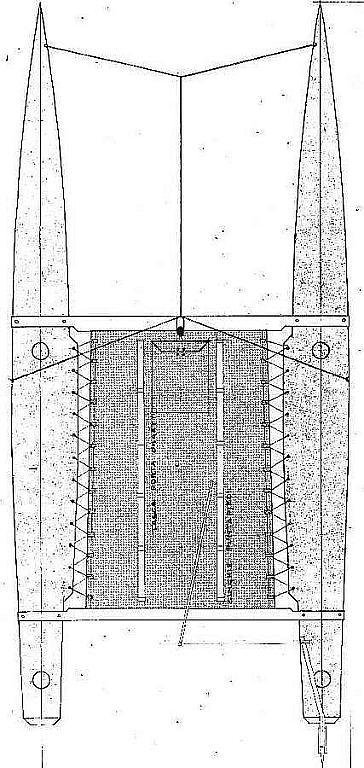 Catamaran Bressenello ship model plans