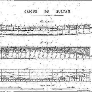 Chaika Imperial Ottoman ship model plans
