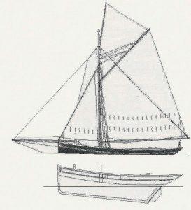 Cutter Gabare ship model plans