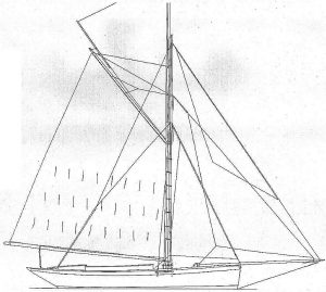 Cutter Vagrant 1884 ship model plans