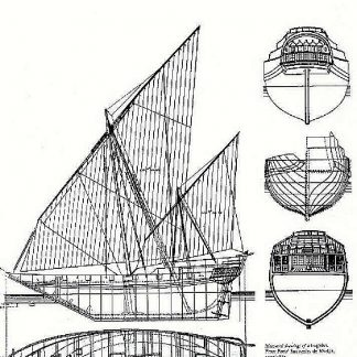 Dhow (Arabian) XVIIc ship model plans