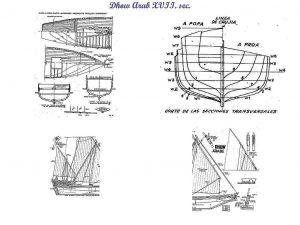 Dhow (Arabian) ship model plans