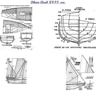 Dhow (Arabian) ship model plans