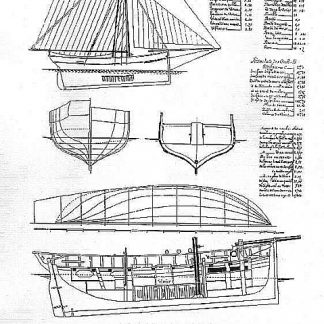 Fishing Boat Homardier ship model plans