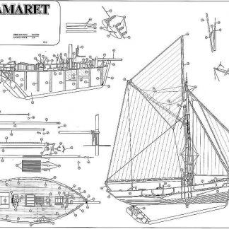 Fishing Boat Le Camaret XXc ship model plans