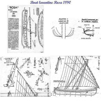 Fishing Boat Levantin Rosa 1890 ship model plans