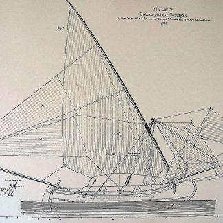Fishing Boat Muleta 1888 ship model plans