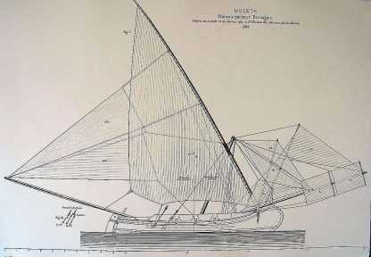 Fishing Boat Muleta 1888 ship model plans