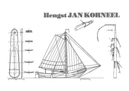 Fishing Boat Mussels Hengst-Jan-Korneel ship model plans