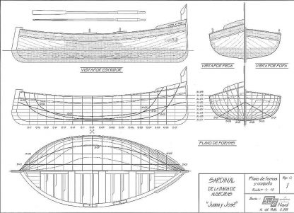 Fishing Boat Sardinal Juana Y Jose ship model plans