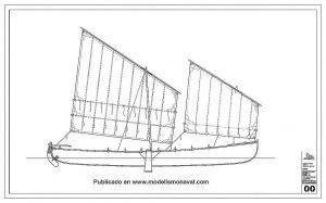 Fishing Boat Trainera Orio XIXc ship model plans