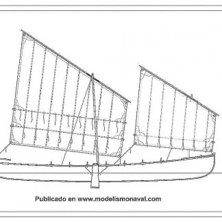 Fishing Boat Trainera Orio XIXc ship model plans