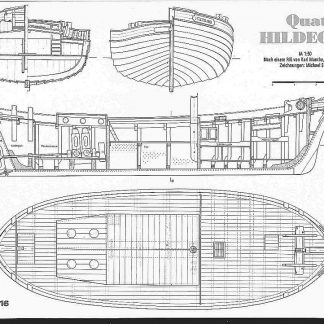 Fishing Boat Well Smack Hildegard 1918 ship model plans