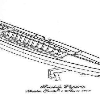 Gondola Puparin (Venetian) ship model plans