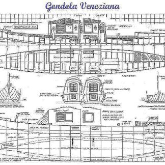 Gondola Veneziana ship model plans