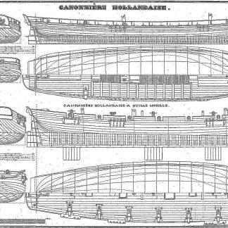 Gunboat Dutch ship model plans