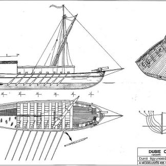 Gunboat River (Danube) 1845 ship model plans