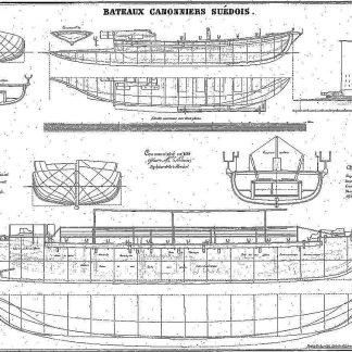 Gunboat (Swedish) 1770 ship model plans