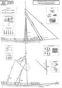 Gunboat William 1795 ship model plans