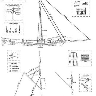 Gunboat William 1795 ship model plans