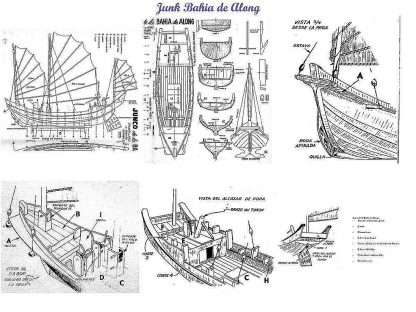 Junk (Along Bay) ship model plans