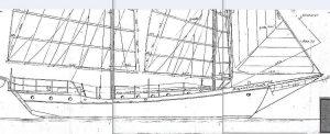 Junk-Rigged Schooner Gazelle 1979 ship model plans
