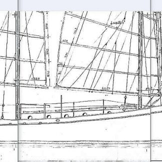 Junk-Rigged Schooner Gazelle 1979 ship model plans