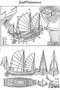 Junk (Tonkin Bay) Vietnamese ship model plans