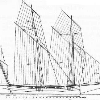 Lugger Le Courer 1775 ship model plans
