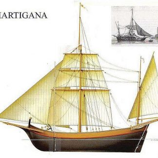 Lugger Martigana XVIIIc ship model plans