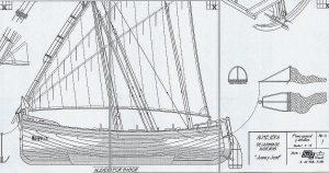 Sailboat Almejera ship model plans
