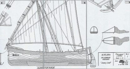Sailboat Almejera ship model plans