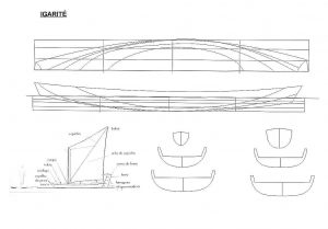 Sailboat Brazilian Igarite ship model plans