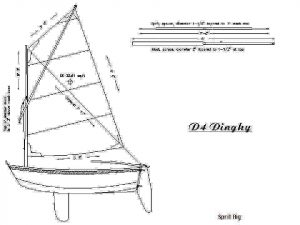 Sailboat Dinghy ship model plans