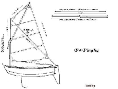 Sailboat Dinghy ship model plans