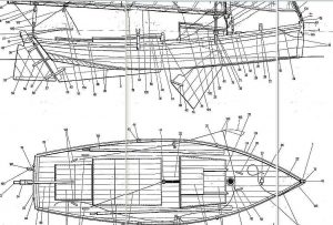 Sailboat Flattie ship model plans