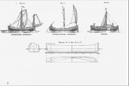 Sailboat Fluvial Russian Collection ship model plans
