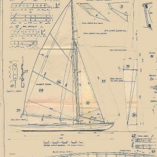 Sailboat Lancia ship model plans