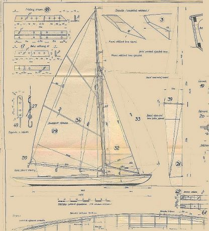 Sailboat Lancia ship model plans