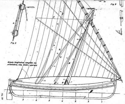 Sailboat Pilgrim P590 ship model plans