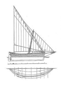 Sailboat Schifetto ship model plans