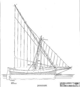 Sailboat Rosa 1890 ship model plans