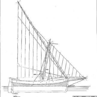 Sailboat Rosa 1890 ship model plans