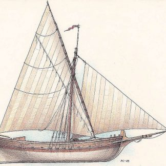 Sailboat Siberian Kotch XVIIc ship model plans