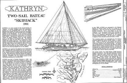 Sailboat Skipjack Kathryn 1901 ship model plans