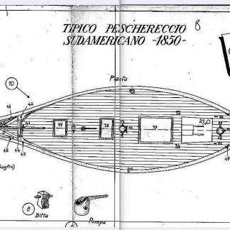 Sailboat (South American) 1850 ship model plans