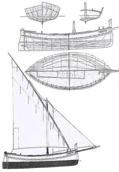 Sailboat Sicilian Tartana ship model plans