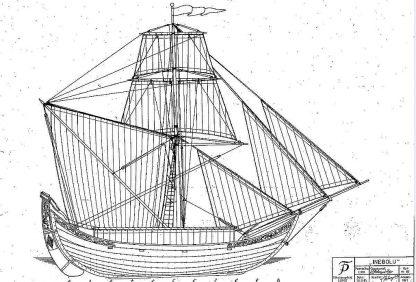 Sailboat Spagnoletta ship model plans